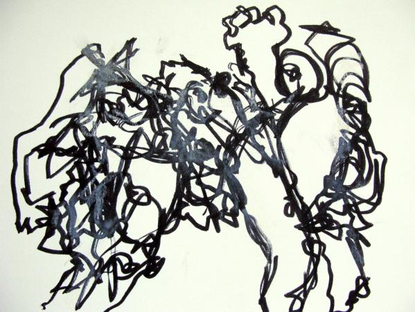 Nereids Combined 2013 40.6 x 50.8  framed Rachelle Allen-Sherwood