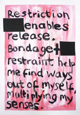 Zoe Catherine Kendall- Restriction Enables Release, A2 acrylic on paper