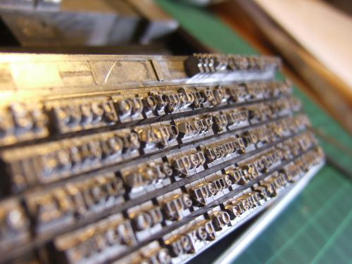 12pt Garamond used to press the blurb.