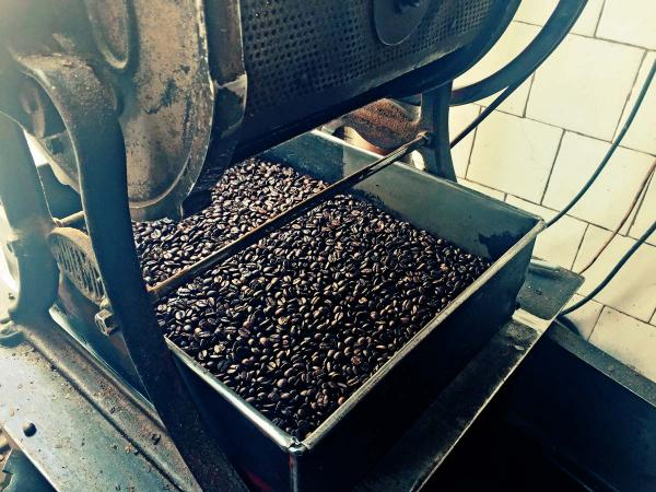 Freshly roasted coffee in camden